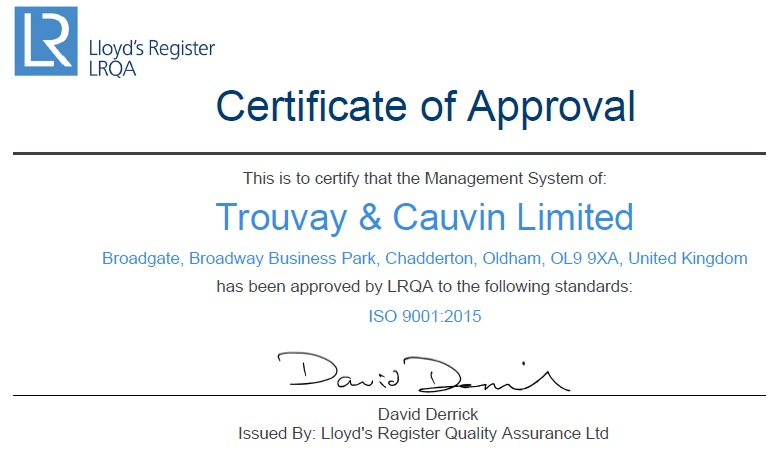 certificate approval
